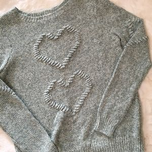 LC Lauren Conrad Heart Knit Sweater